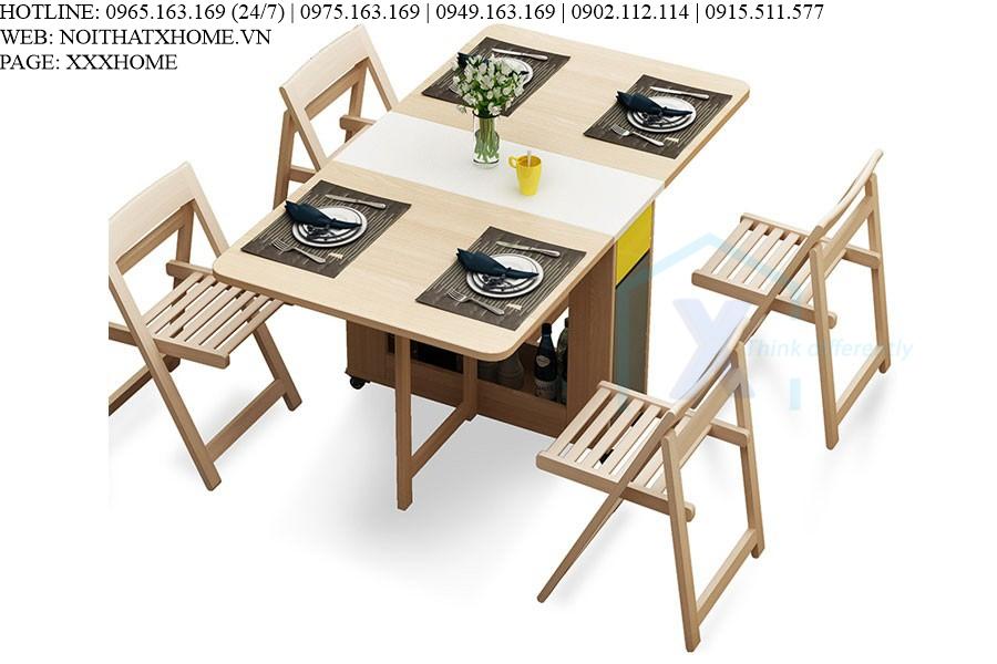 Bàn ăn thông minh nhét 4 ghế X HOME Hà Nội XHOME6605