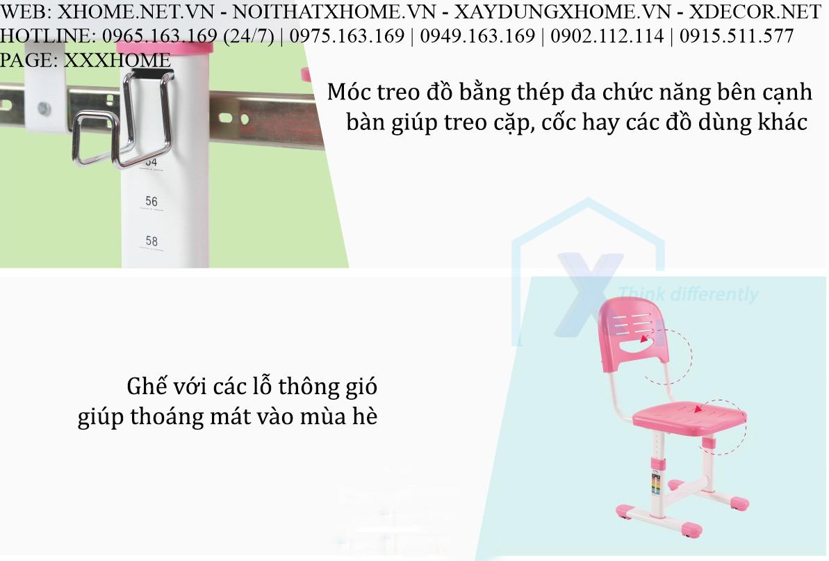 BỘ BÀN GHẾ HỌC SINH CẤP 1 X HOME SÀI GÒN HỒ CHÍ MINH HÀ NỘI XHOME3701