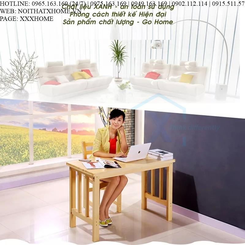 BÀN LÀM VIỆC GỖ X HOME Hà Nội Sài Gòn Hồ Chí Minh XHOME4414