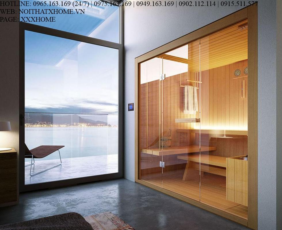 Cabin xông hơi khô Glass – Rope X HOME Hà Nội