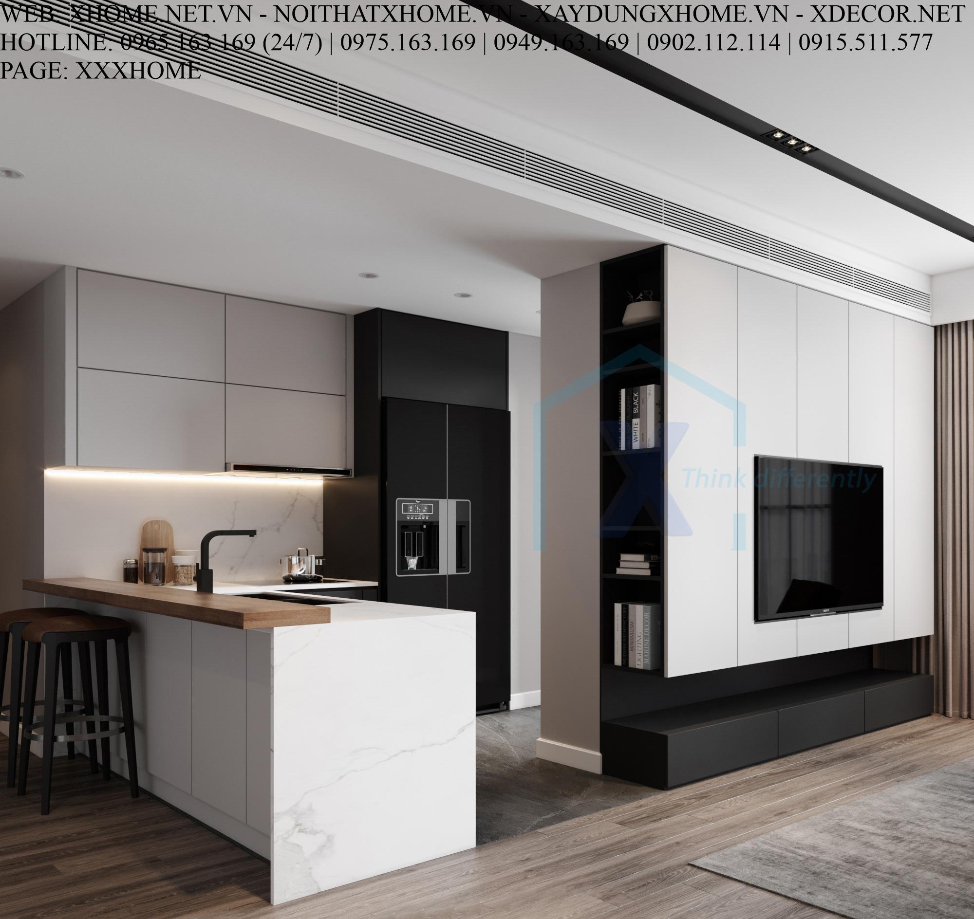 X HOME THIẾT KẾ CĂN HỘ CHUNG CƯ THE EMERALD CT8 MY DINH 140 M2