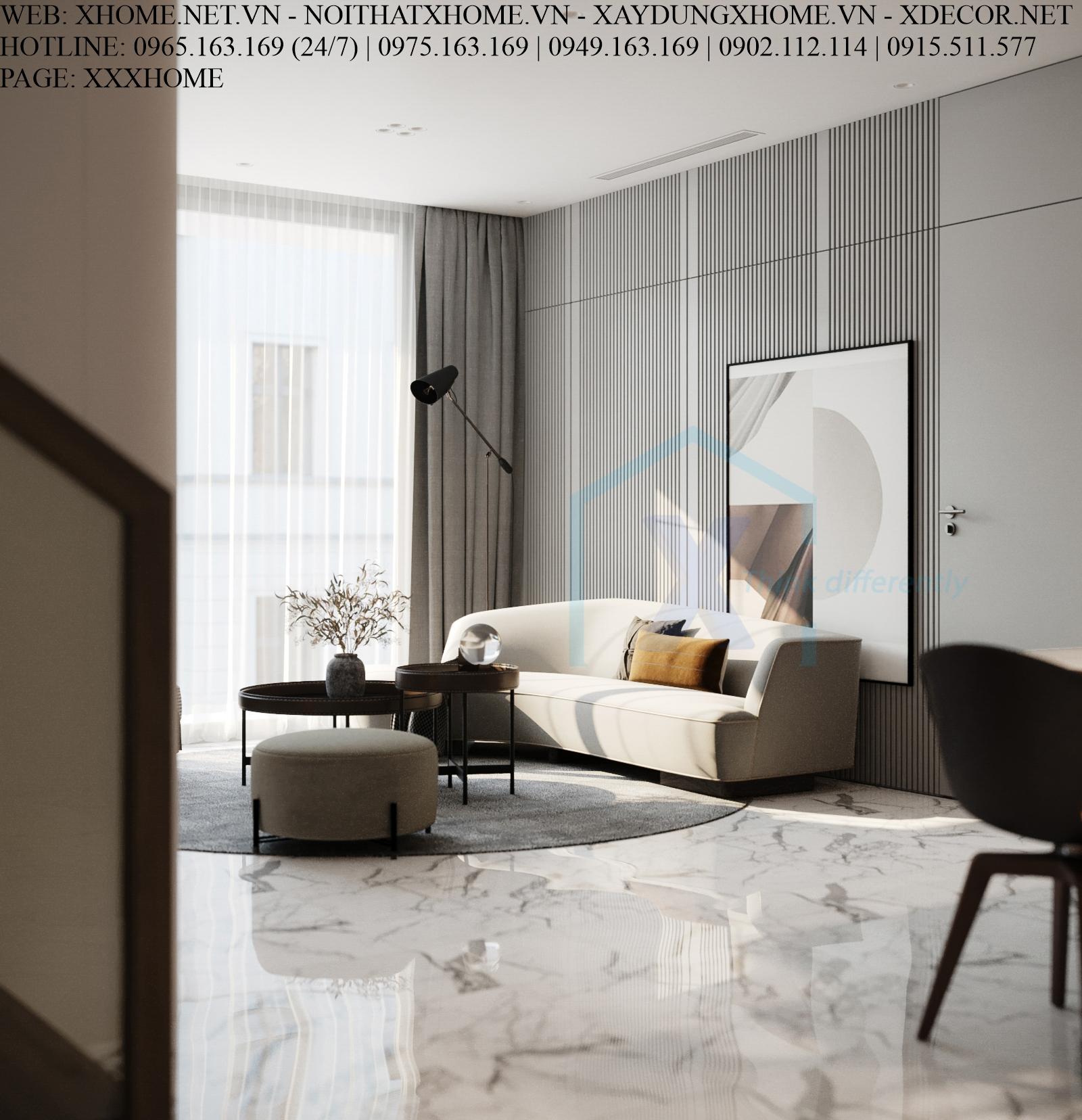 X HOME THIẾT KẾ CĂN HỘ CHUNG CƯ DUPLEX SUNSHINE CITY 190 M2