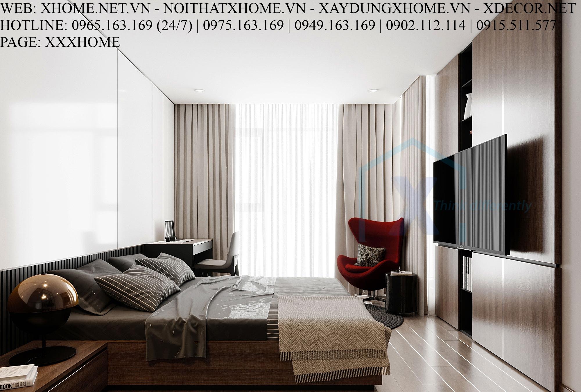 X HOME THIẾT KẾ CĂN HỘ CHUNG CƯ DISCOVERY COMPLEX-211 M2