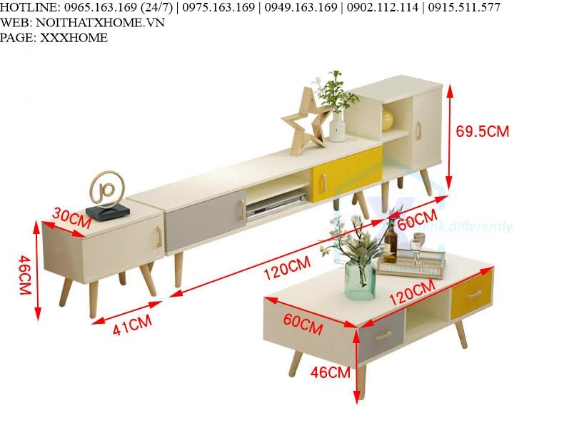 COMBO KỆ TIVI BÀN TRÀ X HOME Hà Nội XHOME9003
