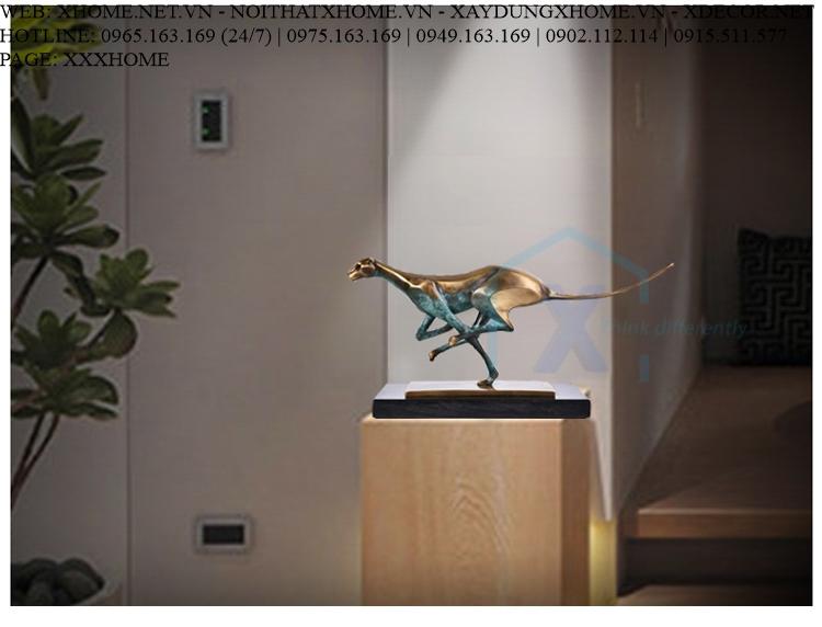 Decor bằng đồng X HOME Hà Nội Hồ Chí Minh Báo săn mồi - VLDV003HB