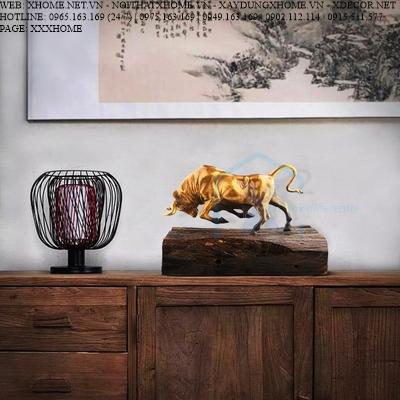Decor bằng đồng X HOME Hà Nội Hồ Chí Minh Trâu vàng