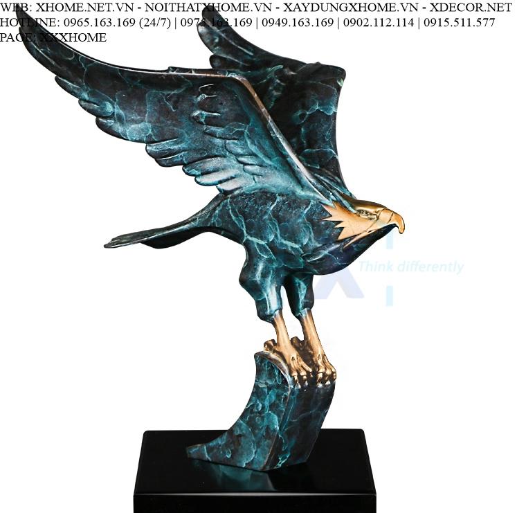 Decor bằng đồng X HOME Hà Nội Hồ Chí Minh Đại bàng tung cánh