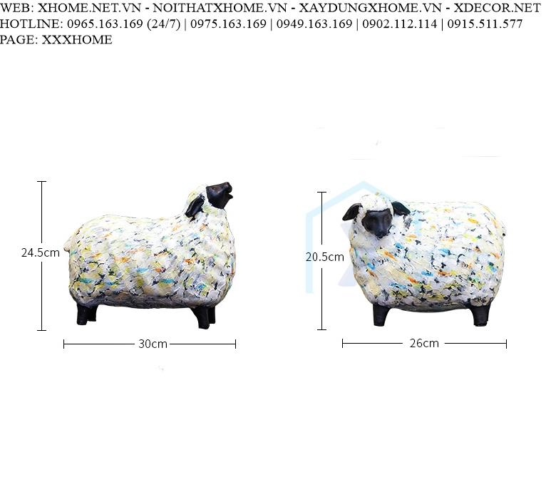 Decor bằng đồng X HOME Hà Nội Hồ Chí Minh Đôi cừu