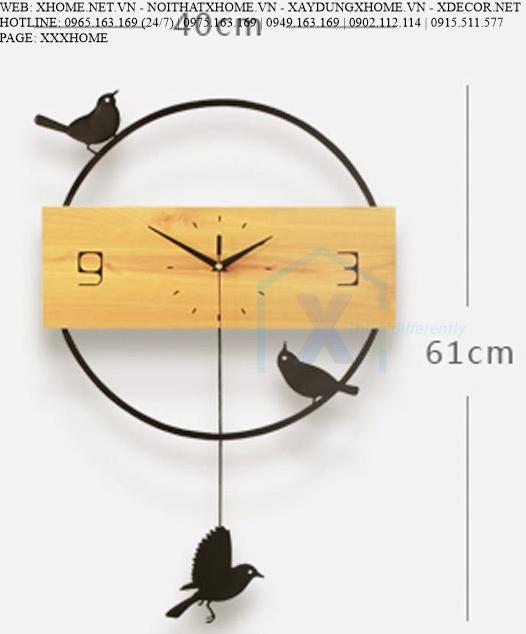 ĐỒNG HỒ TREO TƯỜNG X HOME SÀI GÒN HỒ CHÍ MINH HÀ NỘI XHOME3618