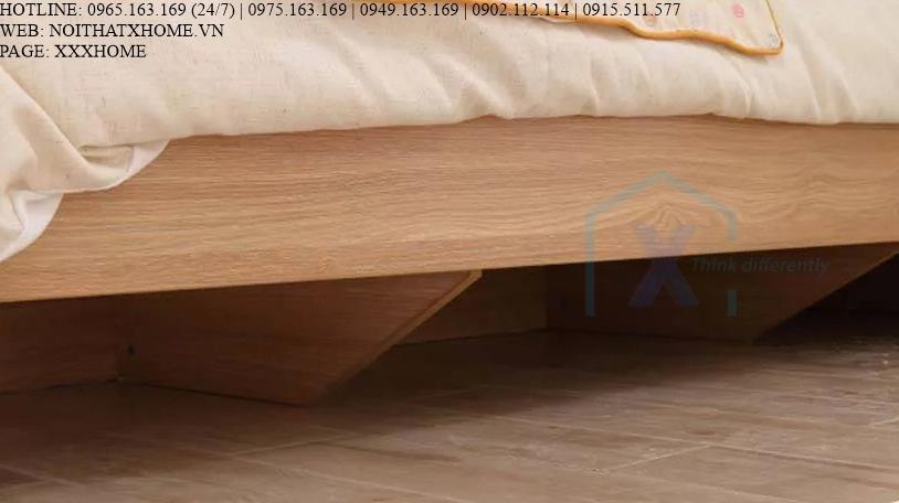 GIƯỜNG NGỦ GỖ TỰ NHIÊN X HOME Hà Nội XHOME2239