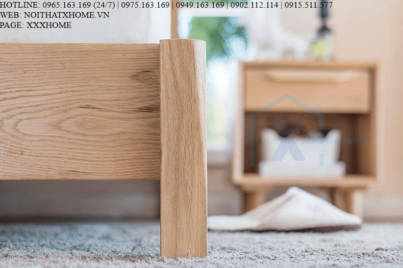 GIƯỜNG NGỦ GỖ TỰ NHIÊN X HOME Hà Nội XHOME4418