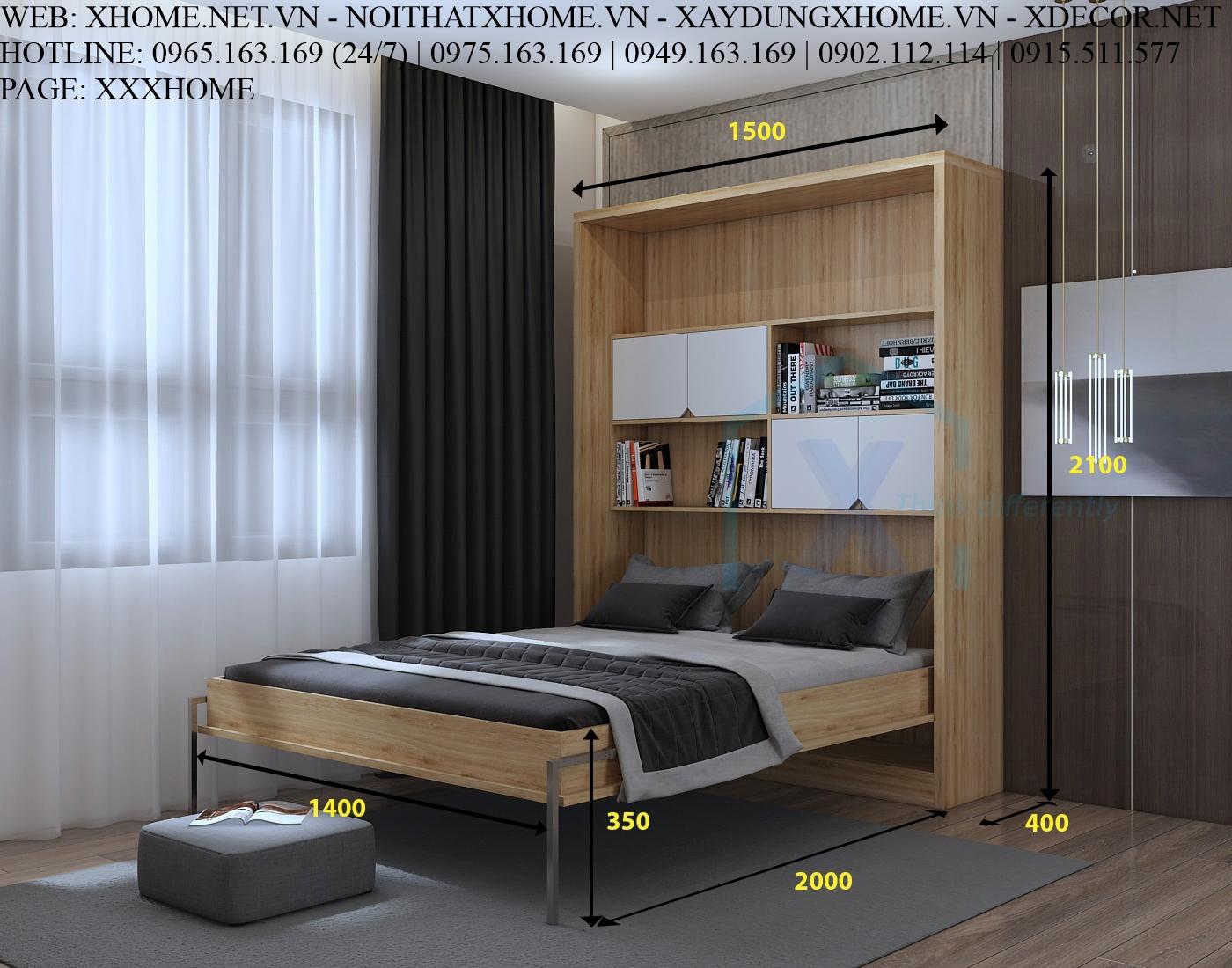 GIƯỜNG GẤP THÔNG MINH X HOME Hà Nội Sài Gòn XHOME1109
