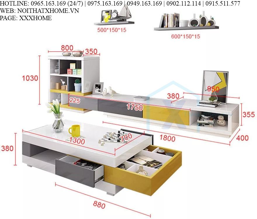 KỆ TIVI GỖ X HOME Hà Nội Sài Gòn Hồ Chí Minh XHOME3330