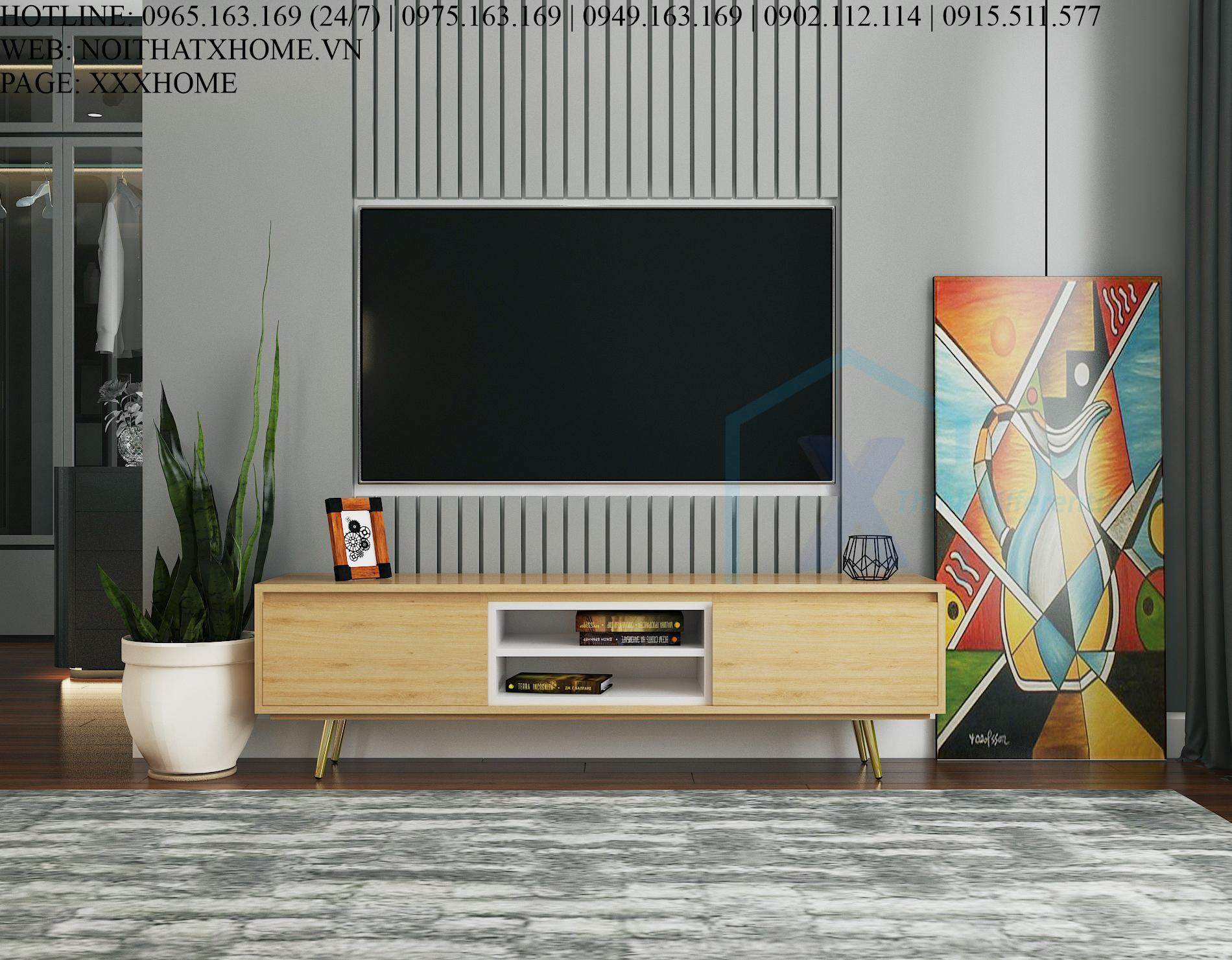 KỆ TIVI GỖ CÔNG NGHIỆP X HOME HÀ NỘI TG6810 1