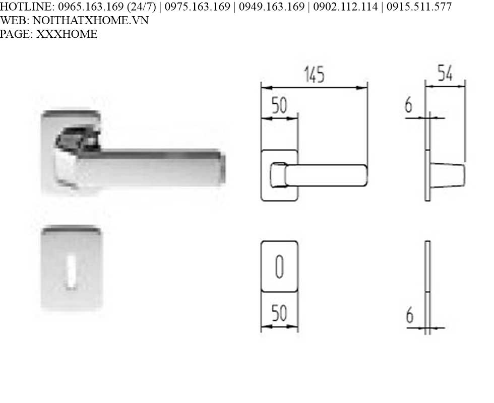 Tay khóa Mandelli - Fenix 1601/ Crome 26 X HOME Hà Nội