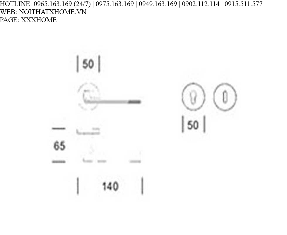 Tay khóa Salice Paolo - 6140 GR X HOME Hà Nội
