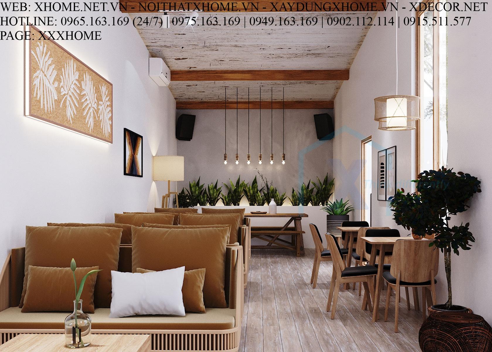 THIẾT KẾ THI CÔNG KIẾN TRÚC QUÁN CAFÉ X HOME HÀ NỘI XHOME05
