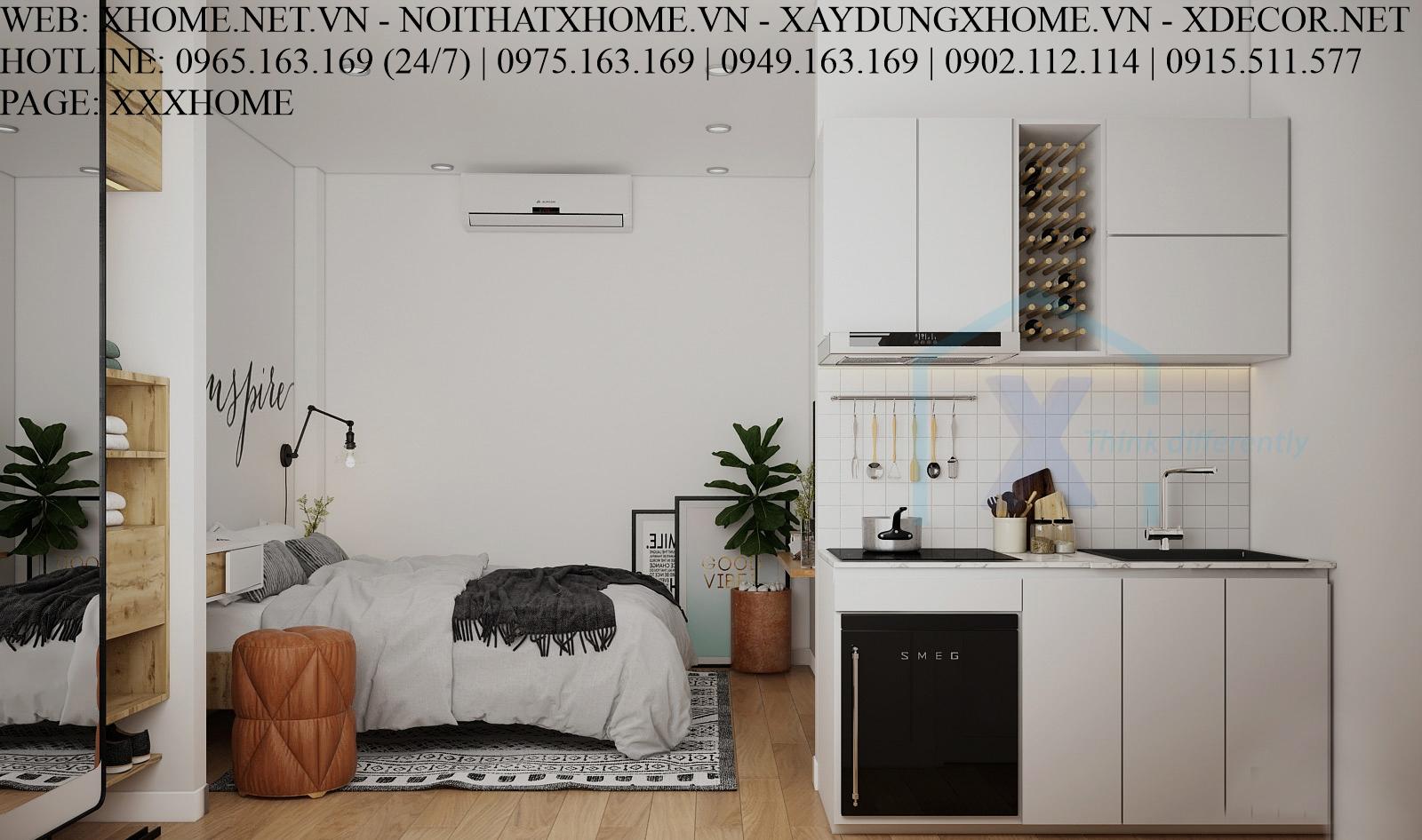 THIẾT KẾ THI CÔNG KIẾN TRÚC HOMESTAY X HOME HÀ NỘI XHOME03