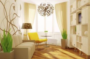 Lộng lẫy gam màu nâu cho phòng khách nhà bạn