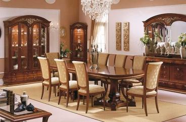 Bàn ăn dài Vicente - Verona Walnut Gold X HOME Hà Nội