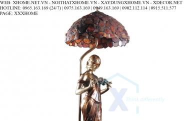 Decor bằng đồng X HOME Hà Nội Chao đèn thiếu nữ