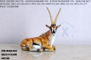 Decor bằng đồng X HOME Hà Nội Hồ Chí Minh Tượng linh dương đồng BLN-8424