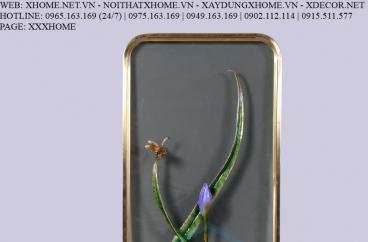Decor bằng đồng X HOME Hà Nội Hồ Chí Minh Khung tranh hoa bằng đồng BFR-6634