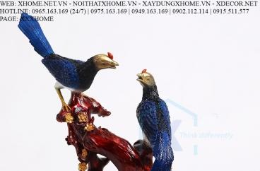 Decor bằng đồng X HOME Hà Nội Hồ Chí Minh Đôi chim đồng