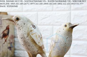 Decor bằng đồng X HOME Hà Nội Hồ Chí Minh Đôi chim trắng