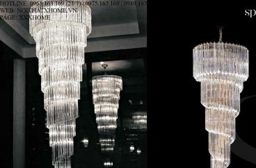 Đèn chùm Novaresi - 8940/200 SQ/ Gold X HOME Hà Nội
