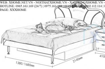 GIƯỜNG NGỦ CHO BÉ X HOME SÀI GÒN HỒ CHÍ MINH HÀ NỘI XHOME3504