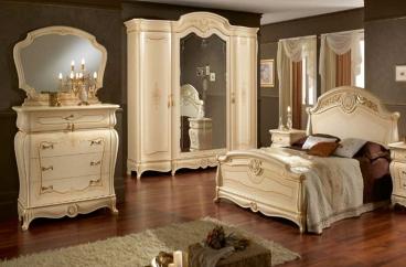 Giường ngủ Ducale King Patinata Beige X HOME Hà Nội