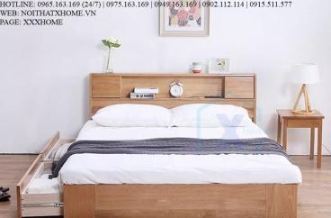 GIƯỜNG NGỦ GỖ TỰ NHIÊN X HOME Hà Nội XHOME3304