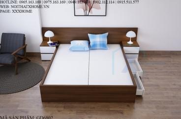 GIƯỜNG NGỦ X HOME CHO PHÒNG NGỦ GỖ ĐẸP GD6802