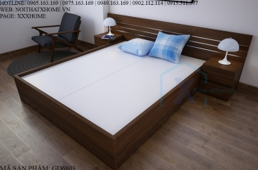 GIƯỜNG NGỦ X HOME GỖ CÔNG NGHIỆP 2 TÁP GD6803
