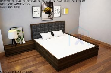 GIƯỜNG NGỦ X HOME GỖ SANG TRỌNG HIỆN ĐẠI GD6806