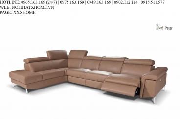 Sofa góc Nicoletti - Peter 210+130+E35+168/Rugiada 74 Terra X HOME Hà Nội