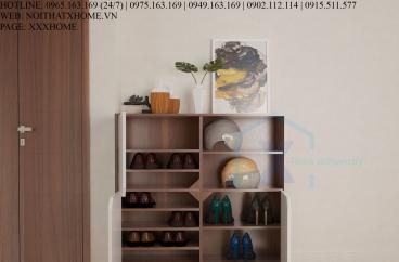 TỦ GIÀY THÔNG MINH X HOME 3 CÁNH MỞ ĐỘC ĐÁO TG6802