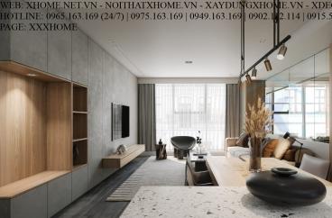 X HOME THIẾT KẾ CĂN HỘ CHUNG CƯ SUNSHINE CITY TAY HO 100 M2