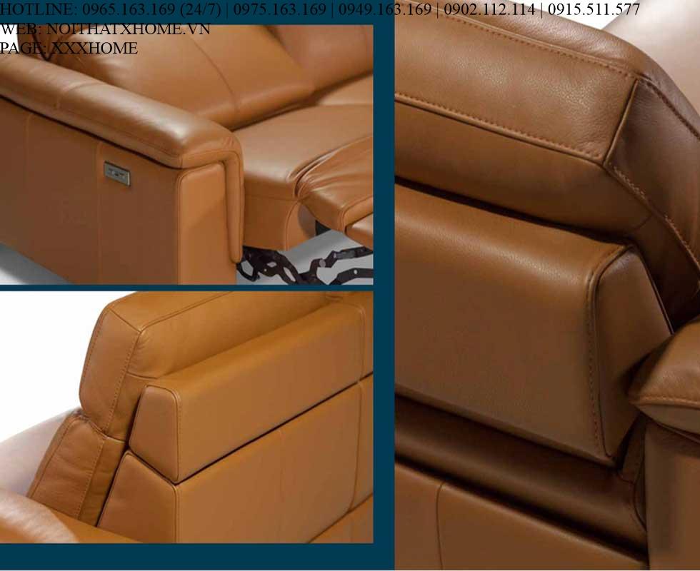 Bộ sofa Nicoletti - Aria 100/Touch 1526 Cognac X HOME Hà Nội