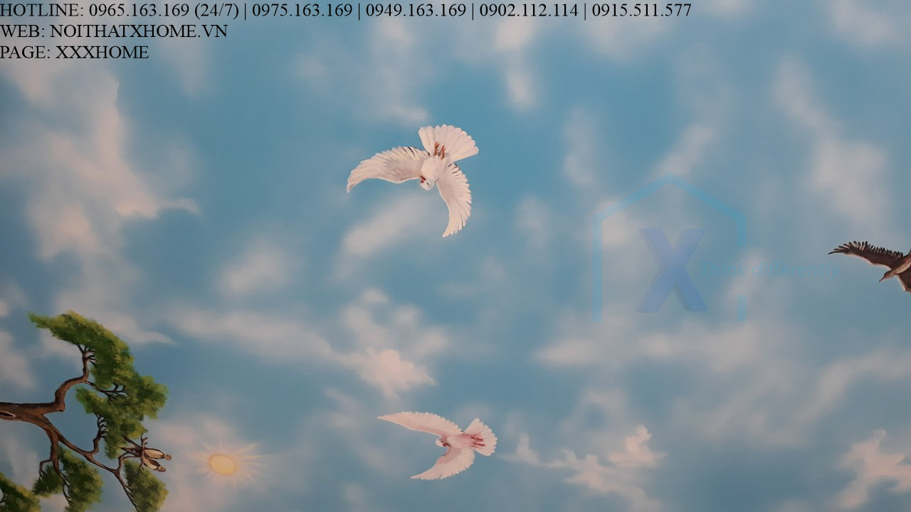 Mẫu trần mây đẹp X HOME Hà Nội