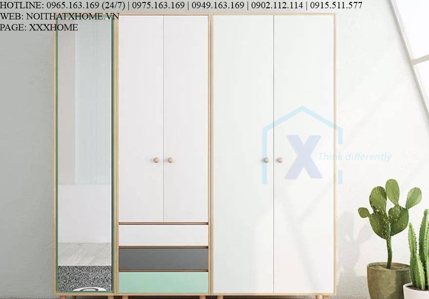 TỦ QUẦN ÁO TỦ ĐỒ GỖ X HOME Hà Nội Sài Gòn XHOME3312