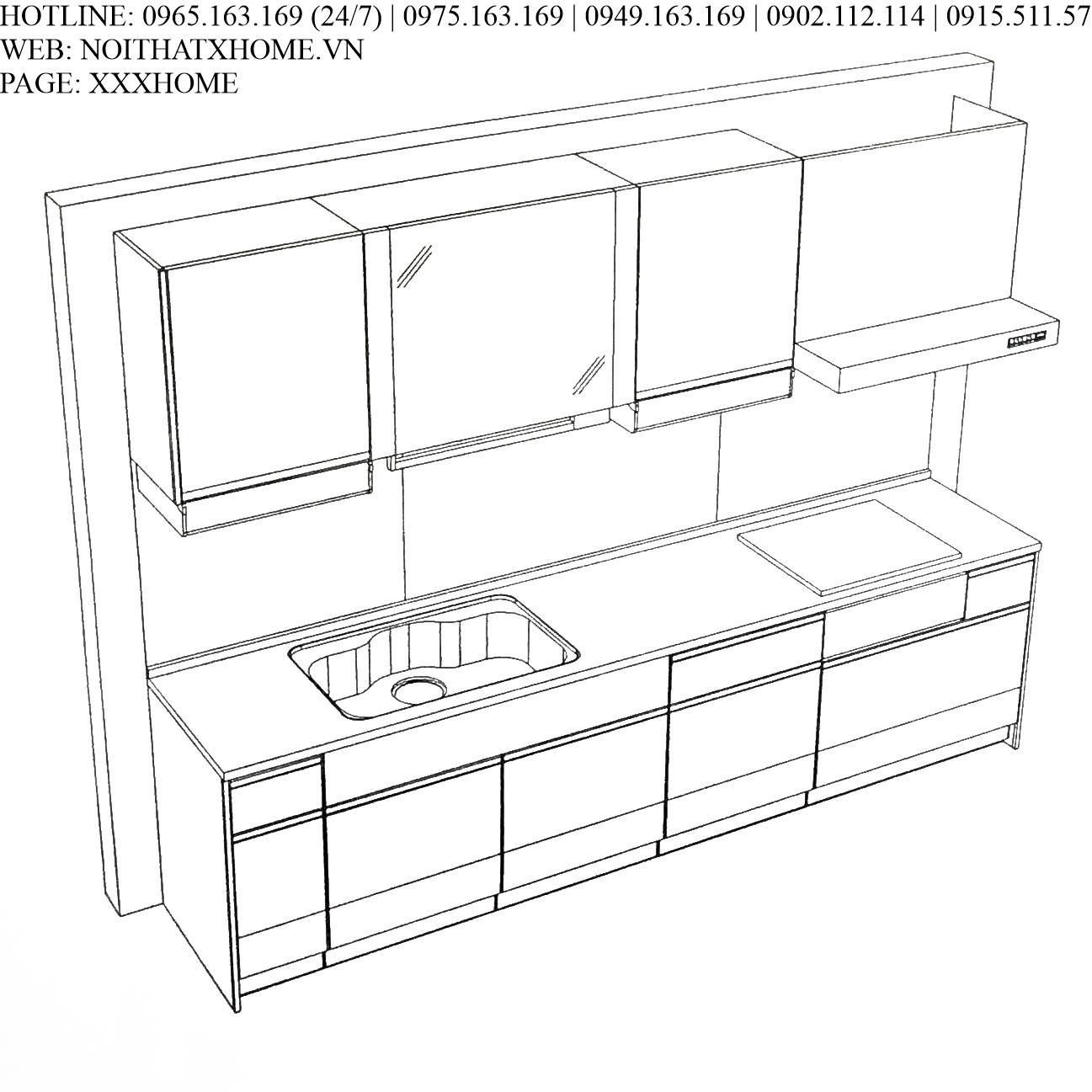Tủ bếp Takara Standard - EMAGE màu VPG X HOME Hà Nội