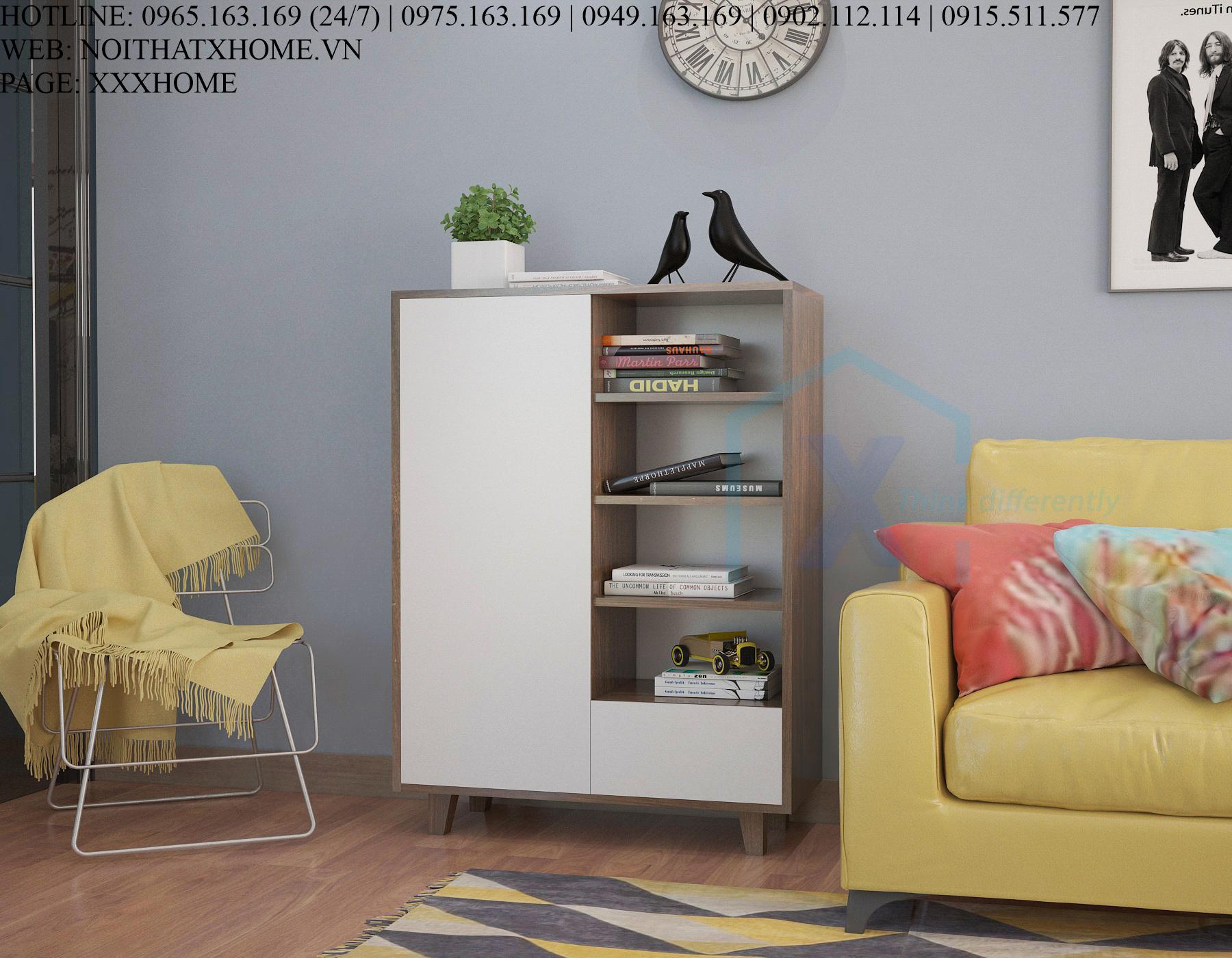 Tủ sách phòng khách X HOME TS6805