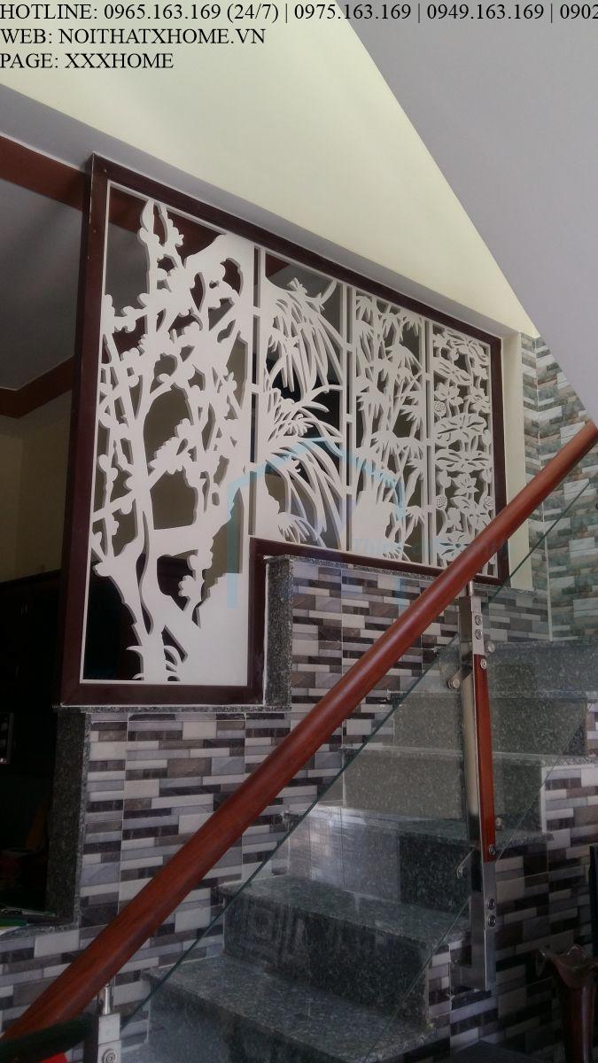 Mẫu vách CNC ngăn cầu thang giá rẻ X HOME Hà Nội